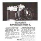 Minolta SR-T 101 Camera Vintage Ad 1970