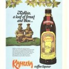Kahlua A Loaf of Bread and Thou Vintage Ad 1970