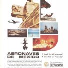 Aeronaves de Mexico Land for all Seasons Vintage Ad 1968
