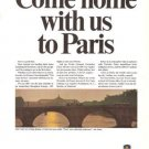 Air France Come Home With Us To Paris Vintage Ad 1965