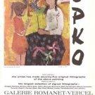 Epko Galerie Romanet Vercel La merchande de jousts Vintage Ad 1965