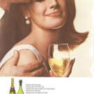 Moet Finest Champagne Bottle French Vintage Ad 1966