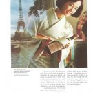 Japan Airlines Air Lines JAL Vintage Service to Paris Ad 1968