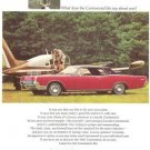 Ford Lincoln Continental Motorcar Cranberry Coupe Vintage Ad 1967
