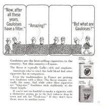 Gauloises Cigarettes 1966 Vintage Ad Filter France