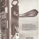 Serrure Brichard Security Lock French Vintage Ad 1965