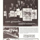 Chateau St Georges grand cru St Emilion French Vintage Ad 1965