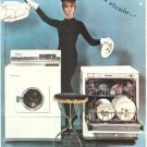 Miele Dishwasher Washing Machine Magician French Vintage Ad 1965
