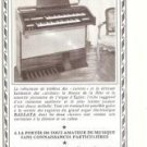 G Becker Organ French Vintage Ad 1965