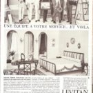 Levitan Interior Decorators French Vintage Ad 1965