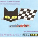 SEV Marchal Car Race Champion CatFrench Vintage Ad 1965