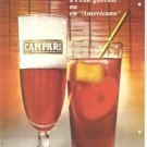 Campari Drink Cocktail Americano French Vintage Ad 1965