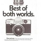 Best of Both Worlds Kodak Camera Instamatic Reflex 1969 Vintage Ad