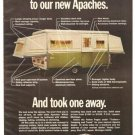 Apache Vesely Camping Trailer 1971 Vintage Ad