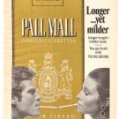 Pall Mall 100's Cigarettes Longer Yet Milder Vintage Ad 1971