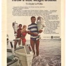 Chrysler Lo Profiles Outboard Depth Minder Boat Vintage Ad 1971