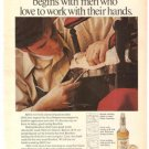 Old Crow Bourbon Jerry Simpson Chair Craftsman Vintage Ad 1971