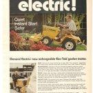 General Electric Elec Trak Garden Tractor GE Vintage Ad 1971