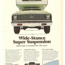 Chevrolet Pickup Chevy Wide Stance Super Suspension Vintage Ad 1971