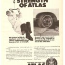 Atlas 4-ply Belted Radial Tires Vintage Ad 1971