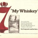 Seagrams 7 Crown Blended Whiskey  Vintage Ad 1971