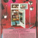 Frigidaire Refrigerator Cyclamatic Red French Vintage Ad 1966