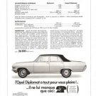 Opel Diplomat Sedan Coupe 1966 French Vintage Ad