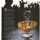 Shalimar Guerlain Le Jazz Hot Perfume Vintage Ad 1978