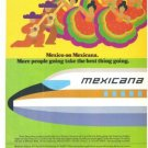 Mexico on Mexicana Airlines Vintage Ad 1978 Golden Aztec Service