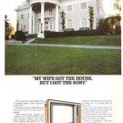 Sony Trinitron Color TV Express Tuning Wife Got House Vintage Ad 1978