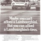 Pirelli Radial Tires Lambourghini Vintage Ad June 1971