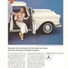 Mercedes Benz 220 Wide Open Door Policy MB Vintage Ad 1965