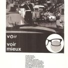 Carl Zeiss Optics Eyeglasses Vintage Ad August 1966 French
