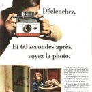Polaroid 399F Land Camera Automatic 104  Vintage Ad May 1966 French