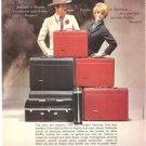 Starflite Luggage Suitcase Travelers Vintage Ad May 1966 French