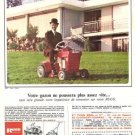 Rugg Lawnmower Mower Tractor Vintage Ad May 1966 French