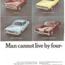 Man Cannot Live by 4x4 Sedans Alone Hertz Rent a Car 2p Vintage Ad June 1969