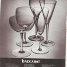 Baccarat Wine Glasses Glass Vintage Ad June 1969