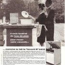 AEG Dishwasher Maid Butler Rain Vintage Ad April 1966 French