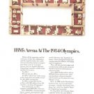 IBM Arena Office Vintage Ad 1984 Olympic Games