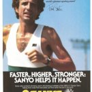 Frank Shorter Runner Sanyo Video Products Vintage Ad 1984 Olympic Games