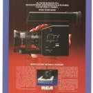 RCA Color Small Wonder Video Camera Vintage Ad 1984 Olympic Games