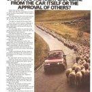 Saab 900 5-speed AC Turbo Sheep Vintage Ad 1984 Olympic Games