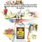 Best Western Worldwide Lodging Motel Hotel Vintage Ad 1984 Olympic Games