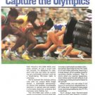 Hitachi Capture Olympics Single Handed VK-C1500 MOS VT-7P 2-page Vintage Ad 1984