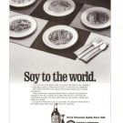 Kikkoman Soy Sauce to the World Vintage Ad 1984 Olympics