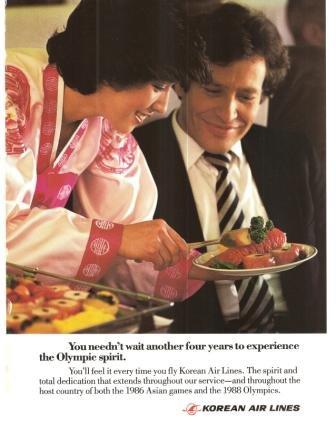 Korean Air Lines Stewardess Kal Airlines Vintage Ad 1984