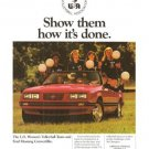 Ford US Women's Volleyball Team Mustang Convertible Vintage Ad 1984 Olympics
