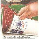 Arco Antlantic Ritchfield Company Tracks Vintage Ad 1984 Olympics