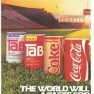 Coca Cola Tab Coke Sprite World Will Always Share Best 3-page Vintage Ad 1984 Olympics
